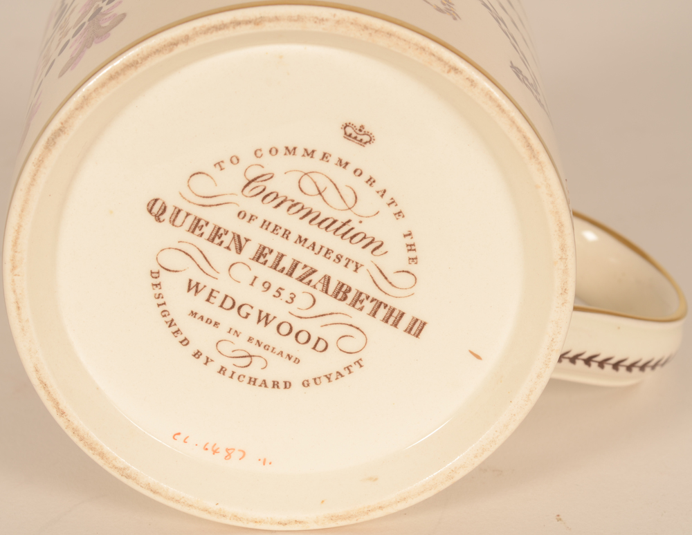 Wedgewood coronation mug 1953 — Marks on the bottom of the piece