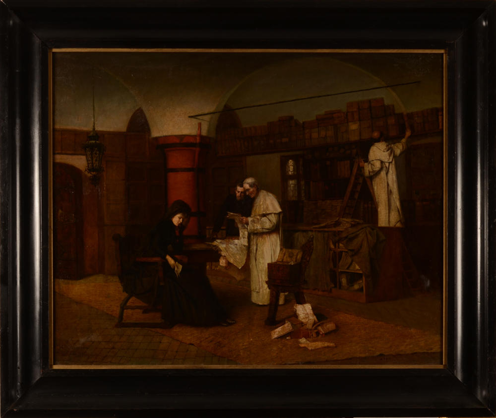 Pedro Weingaertner — the painting in its frame