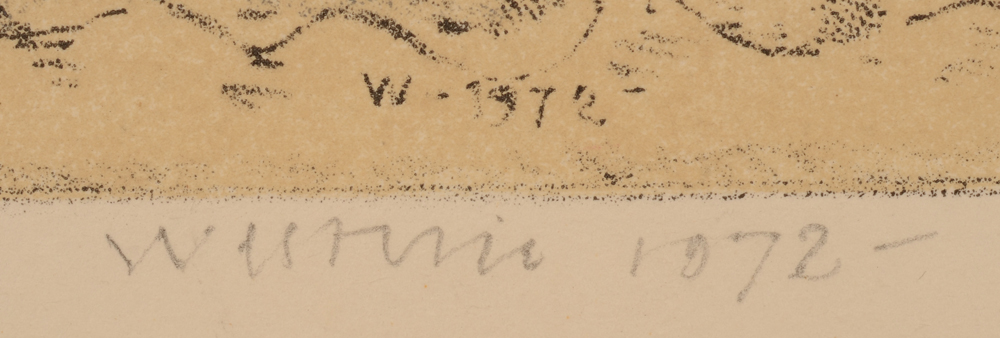 Co Westerik  — Signature of the artist in pencil and date bottom centre