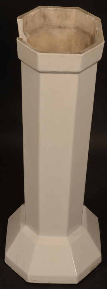 white ceramic art deco table — Side view of the base