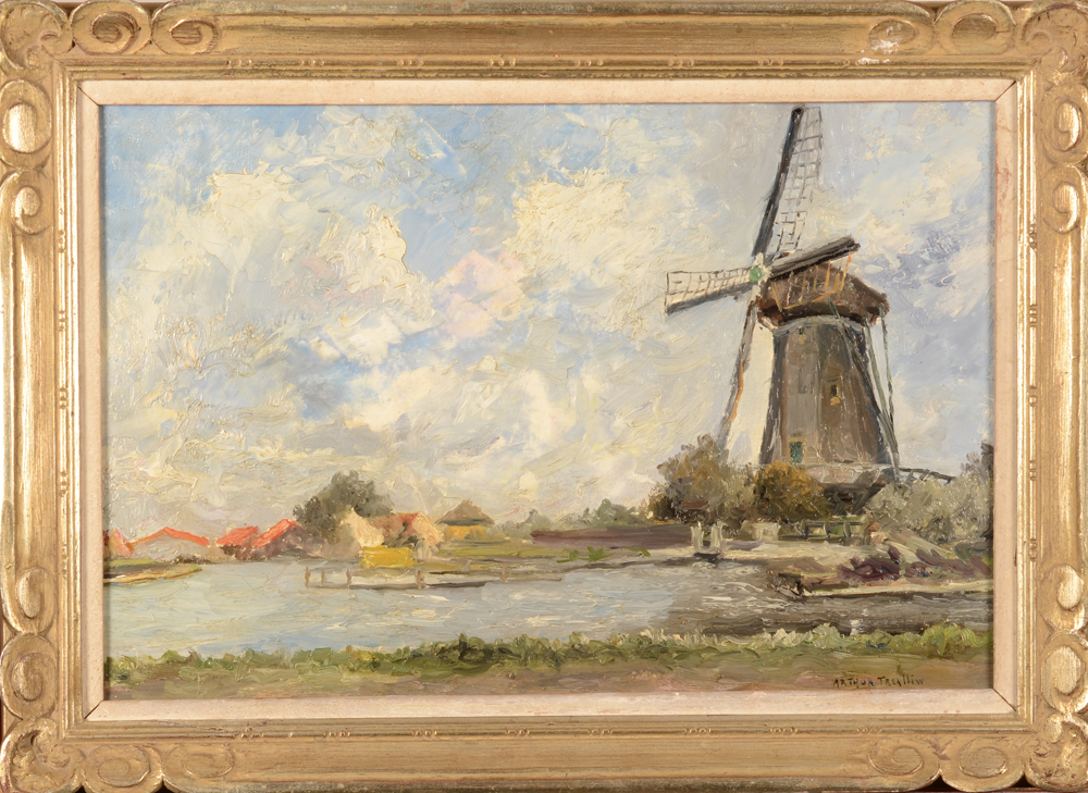 Arthur Willaert — <p>The paintng with its probably original art deco frame</p>