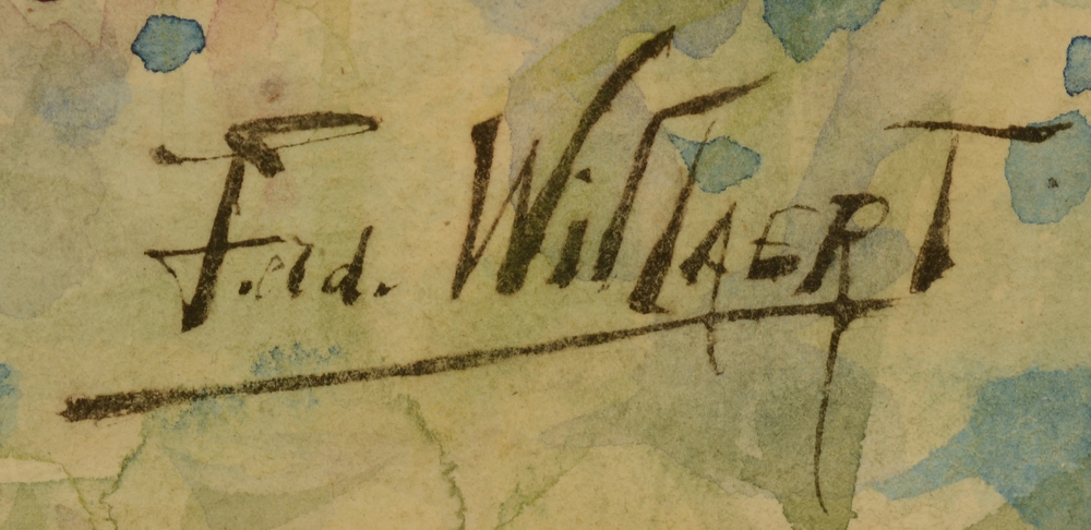 Ferdinand Willaert — Signature of the artist, bottom left