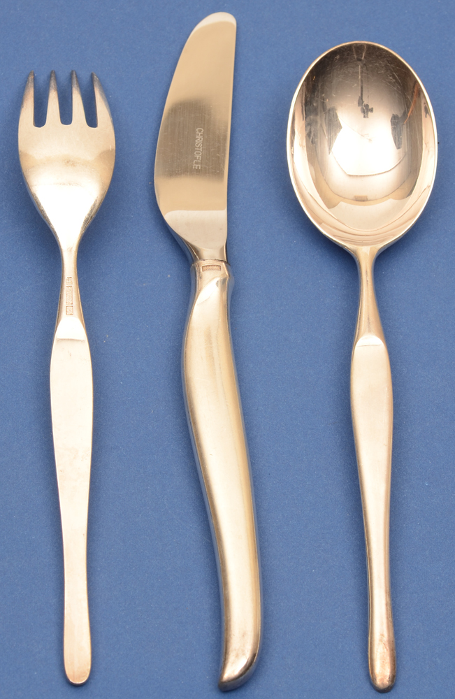Tapio Wirkkala — Duo: eating fork, knife and spoon. Fork showing back side