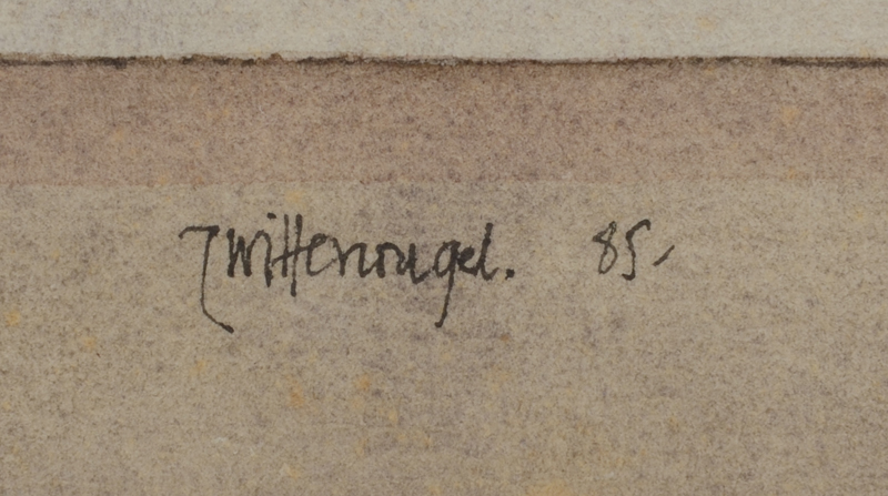 Roger Wittevrongel — Signature of the artist and date, centre bottom.