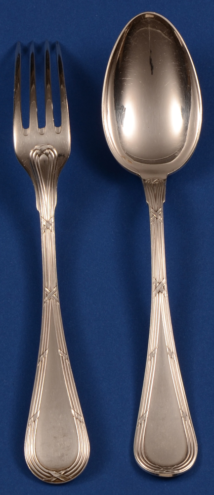 Wolfers L XVI Laurier fork 176 and spoon
