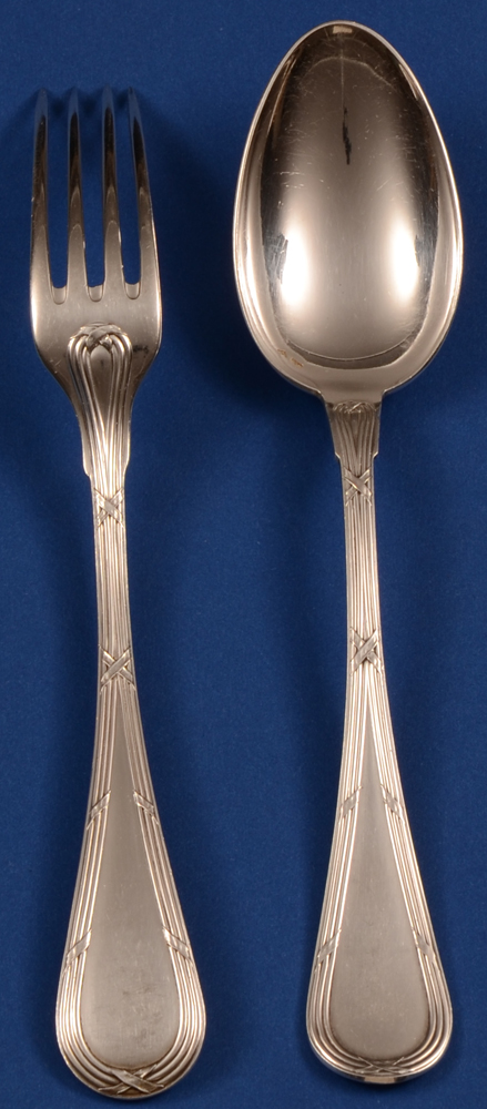 Wolfers 223 Filets Rubans Fork 180 and Spoon