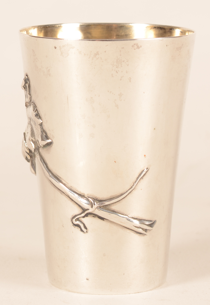 Wolfers Freres — Back of the art nouveau beaker in silver