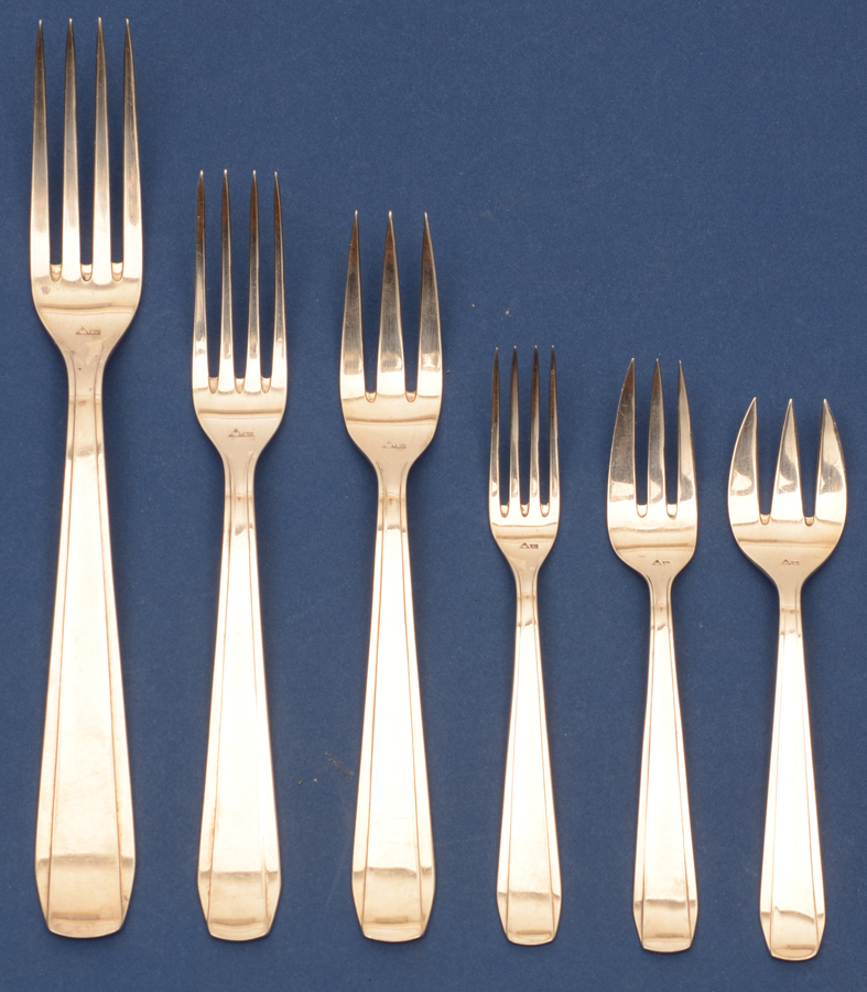 Wolfers Frères Chambord model — <p>All the fork sizes</p>