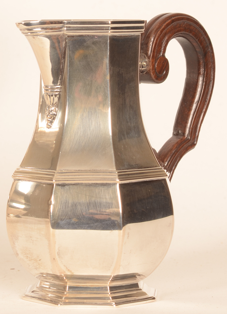Wolfers Frères — Silver and wood milk jug, height 13 cm