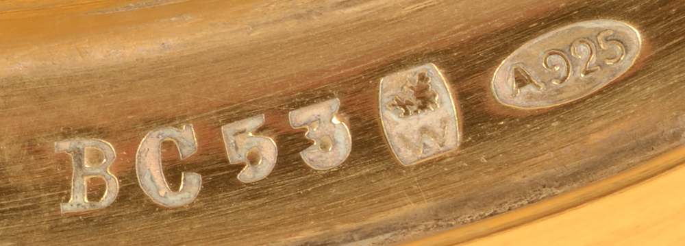 Wolfers Frères  — Model number, makers mark and alloy mark on the bottom of the box