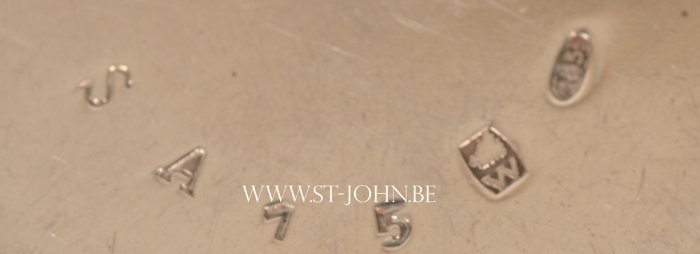 Wolfers Freres — Detail of the mark and serial number on one of the salts