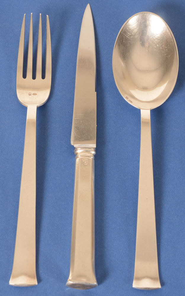 Marcel Wolfers — Detail of the eating fork, knife and spoon