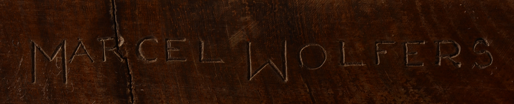 Marcel Wolfers — Signature of the artist at the side of the base