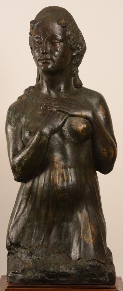 Philippe Wolfers — Pythonisse, 1927, bronze monumentale, piece unique provenant de la collection personelle de Philippe Wolfers