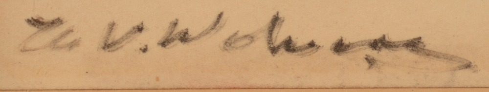 Henri Victor Wolvens — Signature of the artist, bottom left