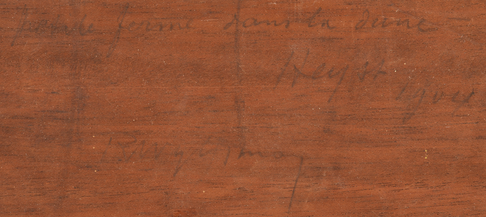 Rodolphe Wytsman — Title in full, date and signature at the back in pencil by the artist