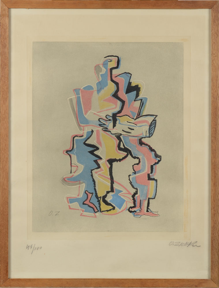 Ossip Zadkine — Original etching in colour, signed and numbered in pencil