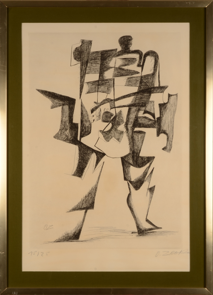 Ossip Zadkine — The etching in its period frame