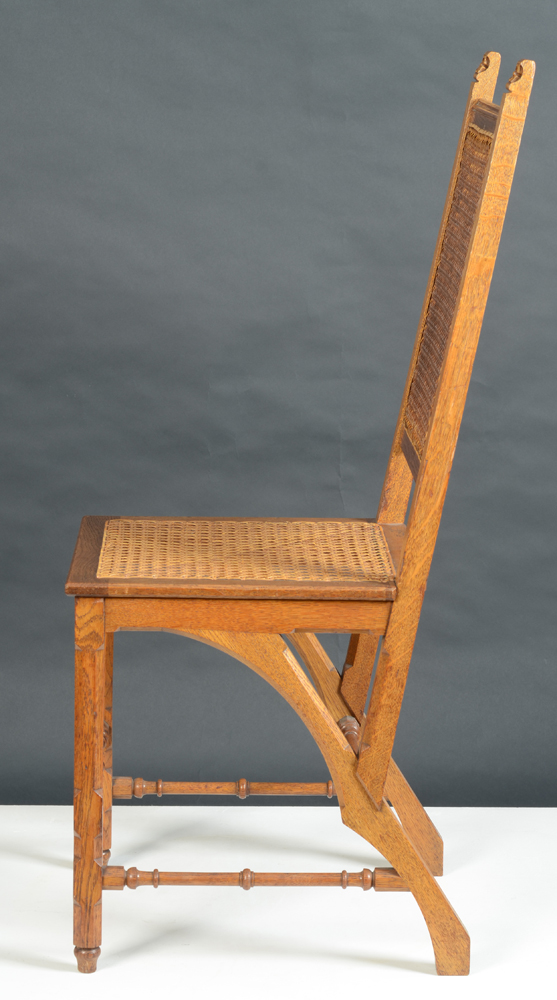 Matthias Zens — Side view of the chair, showing the elaborate designed base.