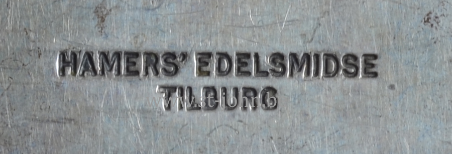 Makers mark of the firm of Hamers Edelsmidse form Tilburg in the Netherlands.