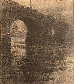 Albert Baertsoen London Bridge Lithograph