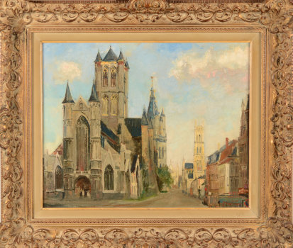Jacques Bergmans the three towers of Ghent