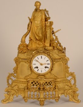Louis-Philippe gilt bronze Clock