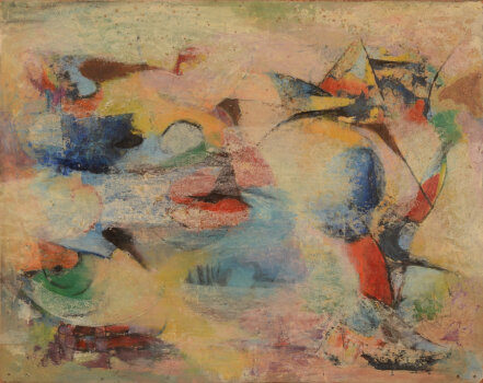 Karel Cornel Abstract Composition on paper