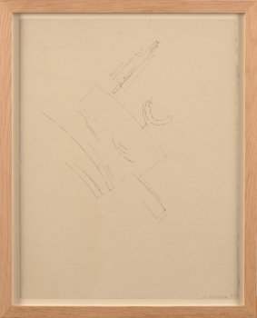 Werner Cuvelier abstract drawing 1961