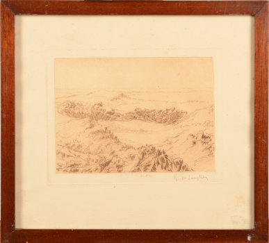Rodolphe De Saegher etching dunes