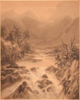 Edouard De Vigne a mountain river
