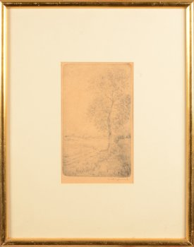 Maurice Dupuis etching tree