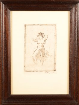 Maurice Dupuis standing nude