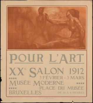 Emile Fabry Pour l'Art lithographic poster