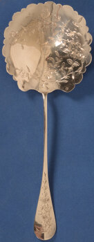 silver engraved strawberry spoon