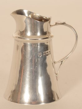 Jackson and Fullerton silver cream jug
