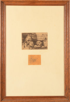 Jean Delvin Picador Etching and Drawing