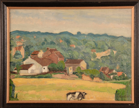 Henri Le Roux The Cow