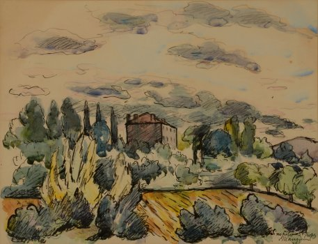 Henri Manguin View of Sinepolis (St-Tropez)