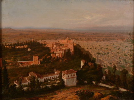 Charles Mauzaisse view of Granada 1869