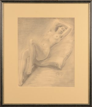 ​Jan Mulder reclining nude 1941