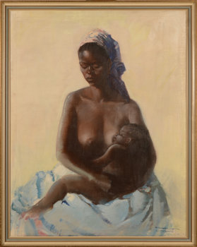 Gaston Parison African mother and child