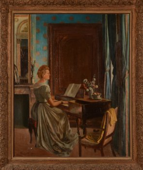 Gaston Pauwels The lady at the pianforte 1944