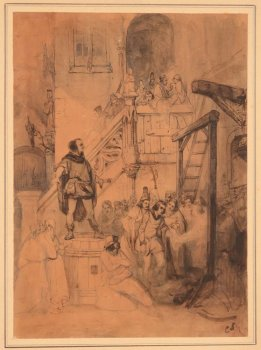 Cornelis Seghers drawing of a historical event