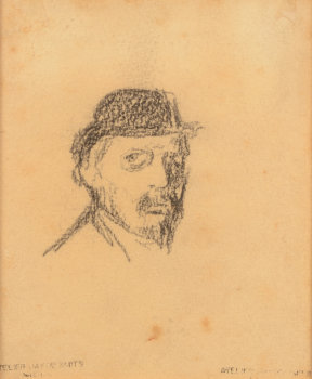 Jakob Smits Self portrait drawing