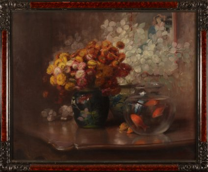 Julien Stappers still life with gold fish