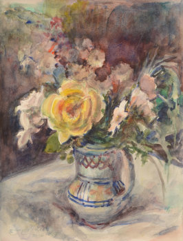 Georges Steel Flowers in a Spanish pitcher