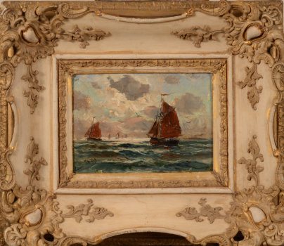 Romain Steppe Boats on the North Sea