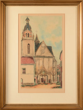 Maurice Utrillo (after) colour etching