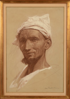 Jules Van Biesbroeck Potrait of an arab man